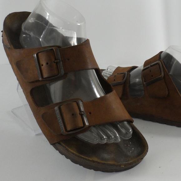 finest selection 1fd08 b6f18 Birkenstock Arizona Two Strap Leather Sandal 42